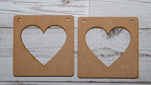 Heart Photo Frame Pack of 2