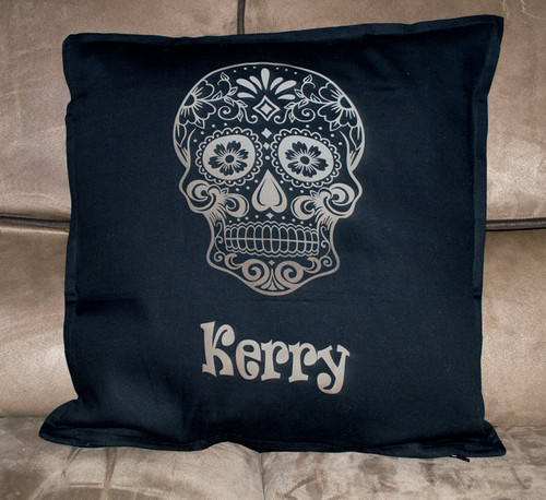 Personalised Sugar Skull Cushion Cover