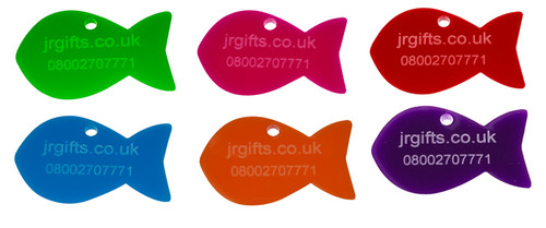 Fish Shaped Pet Tag