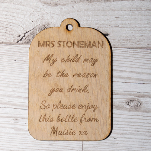Teacher Bottle Tag