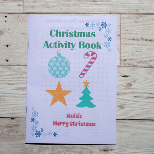 Christmas activity book front page