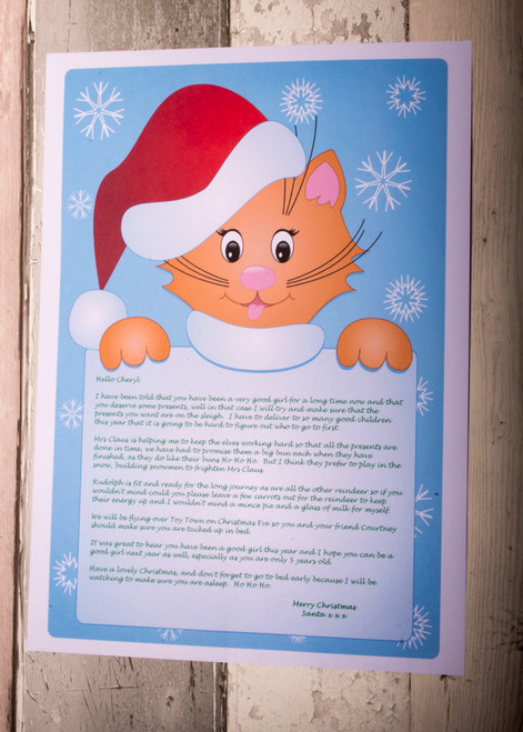 Personalised Cat Design Santa Letter