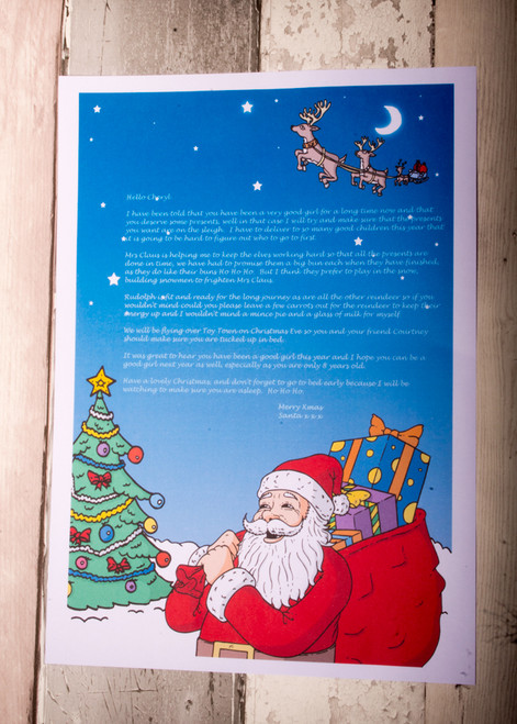 Personalised Santa with Sack Design Santa Letter