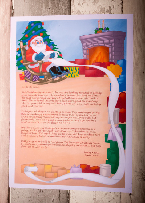 Personalised Santa with Scroll Design Santa Letter