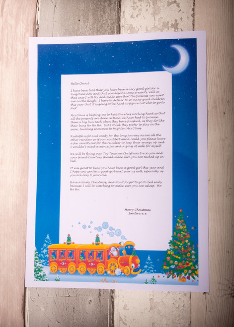 Personalised Train Design Santa Letter