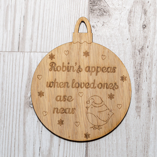 Robins Appear Bauble Oak Veneer