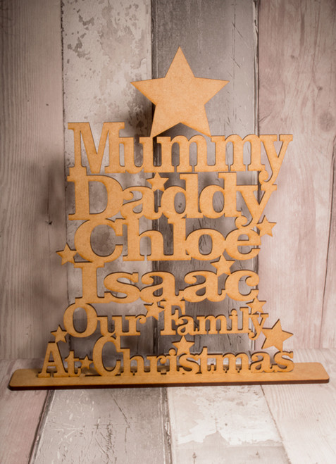 Personalised Family Tree Stand