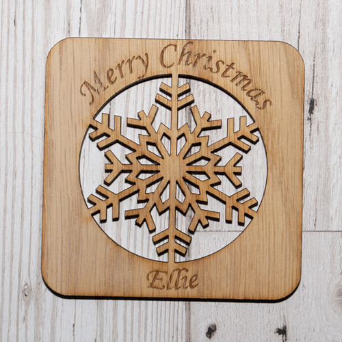 Snowflake Name Coaster