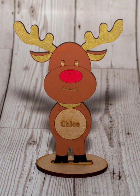 Personalised Standing reindeer Large
