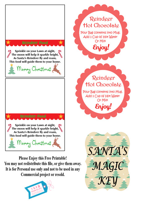 Free downloadable Christmas labels and tags