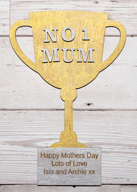 personalised mothers day trophy