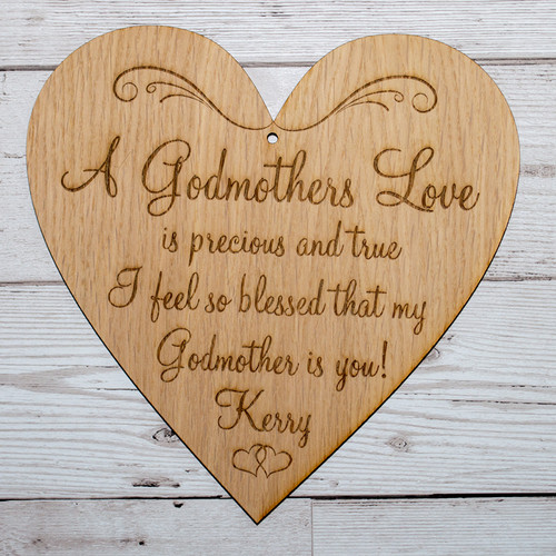 Personalised Godmother Plaque