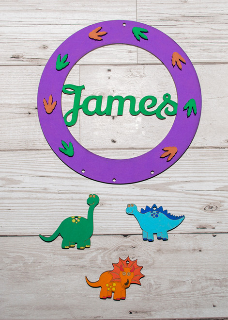 Personalised Painted Dinosaur Dream Catcher