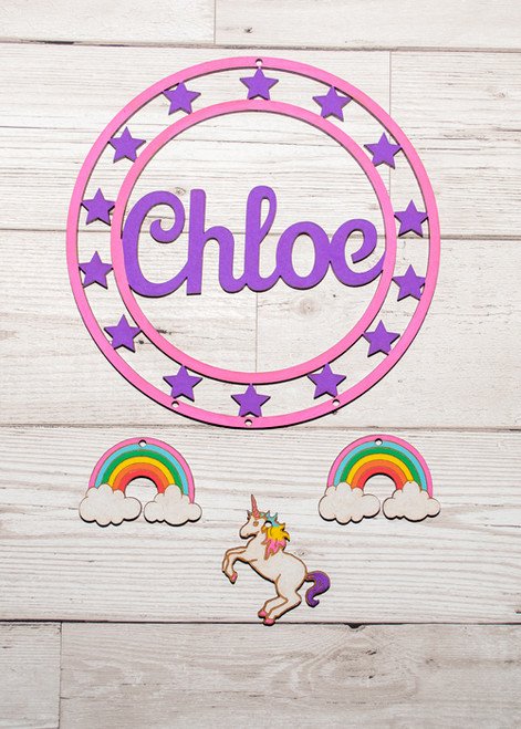 Personalised Painted Unicorn Dream Catcher