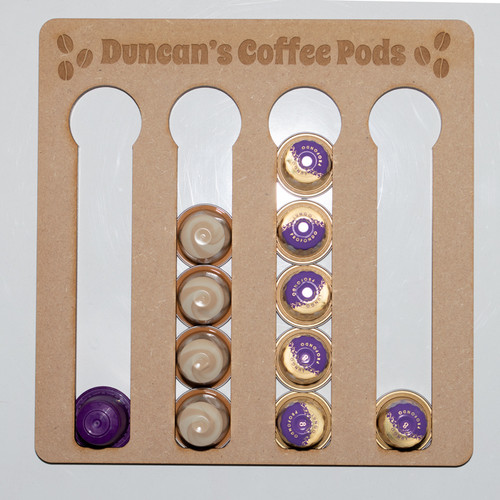 Coffee Pod Holder for 20 Pods for Nespresso Pods showing with pods