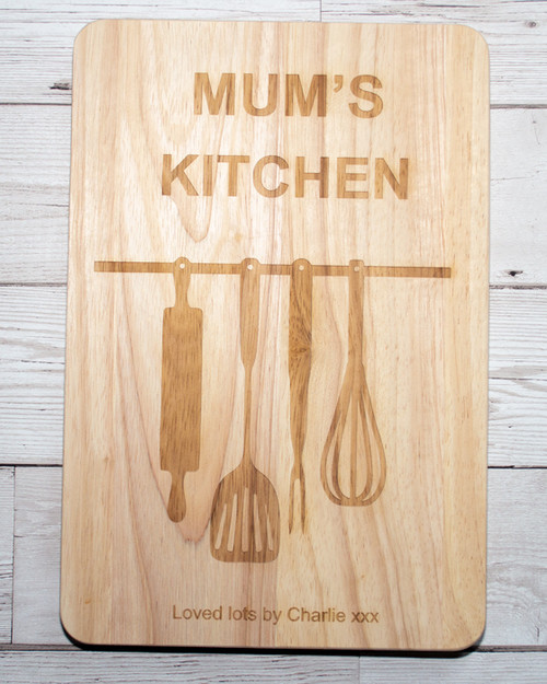 Personalised Kitchen Utensils Chopping Board
