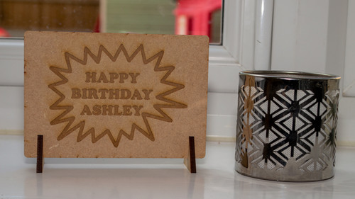Birthday Explosion Wooden Postcard
