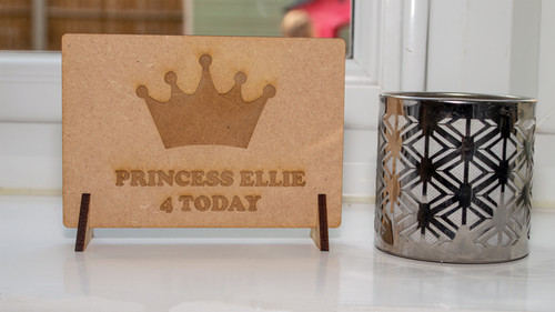 Birthday Crown Wooden Message Card