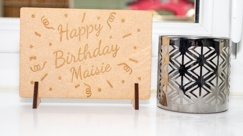 Birthday Confetti Wooden Message Card