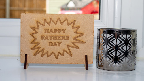 Fathers Day Explosion Postcard