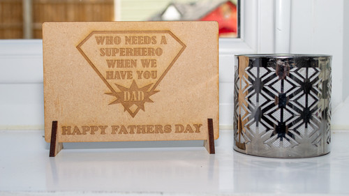 Fathers Day Superhero Message Card
