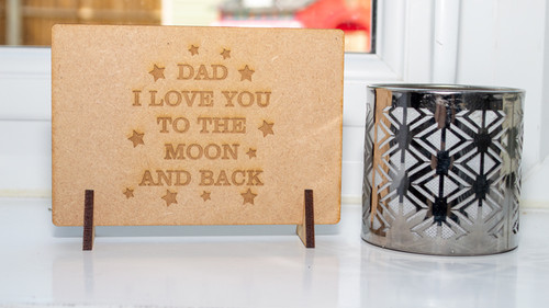 Fathers Day Moon and Back Message Card