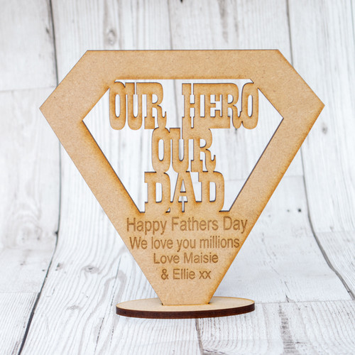 Fathers Day SuperHero Stands dad hero