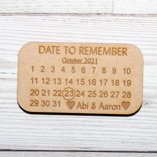 Save the Date Magnet Calendar Style