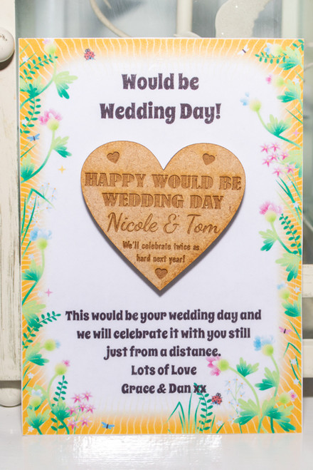 Personalised Would Be Wedding Day Hug Magnet