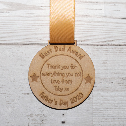 Personalised Fathers Day Medal Award