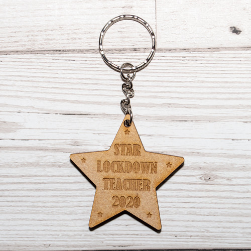 Star Lockdown Teacher Keyring