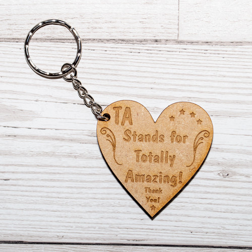 TA Stands For Totally Amazing Keyring