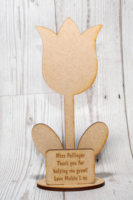 Tulip Flower with Personalised Plaque