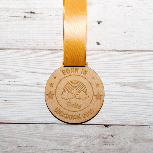Born in Lockdown 2020 Personalised Medal