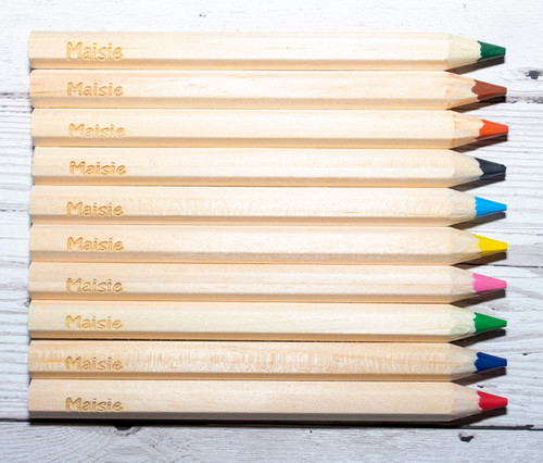 Personalised Colouring Pencils and Sharpener