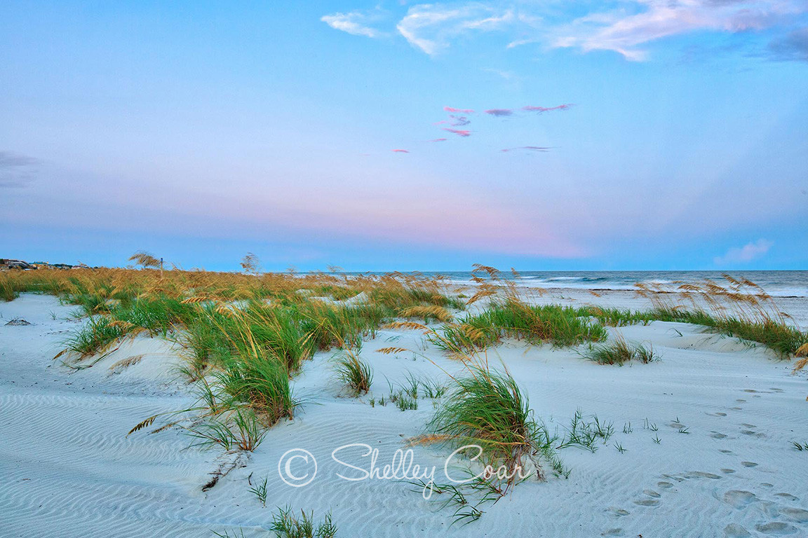 A Fripp Island, South Carolina beach at sunset. Photograph by Shelley Coar.