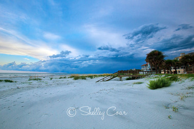 Fripp Island, South Carolina blue sunset photograph by Shelley Coar.