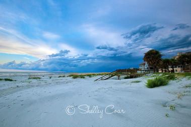 Fripp Island, South Carolina blue sunset photograph by Shelley Coar.