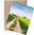 """Travel card with an image from the Belgian countryside by photographer Shelley Coar and quote """"It's time for a new adventure."""""""