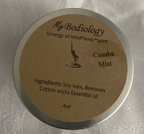 Soy & Beeswax Tin candles Casaba Mist 4 oz