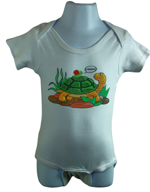 High Quality 100% Bodysuit. non - toxic baby safe, odor free ink Available in sizes 3-6 Months, 6-12 Months, 12-18 Months