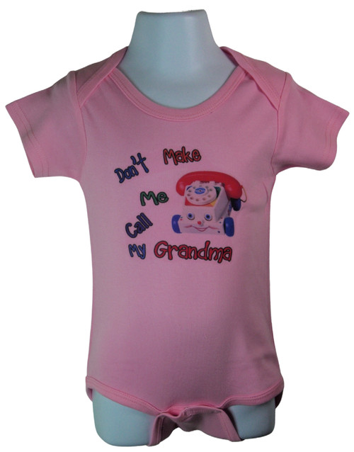 High Quality 100% cotton. Baby Safe Ink. Care Instructions included.  Available in colors Blue and Pink. Comes in sizes 3-6 Months, 6-12 Months, 12-18 Months.