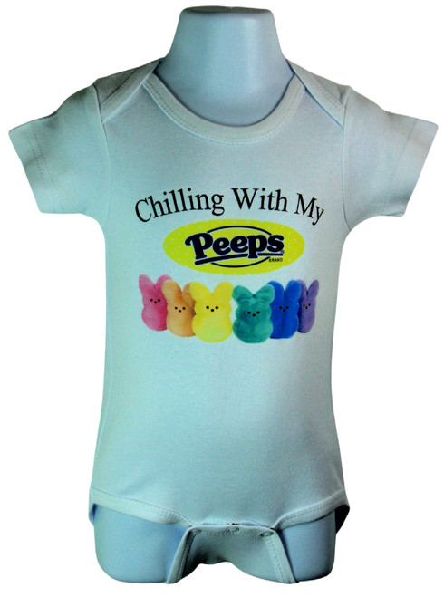 Chilling With My Peeps Available in sizes 0-6 Months, 6-12 Months,12-18 Months.