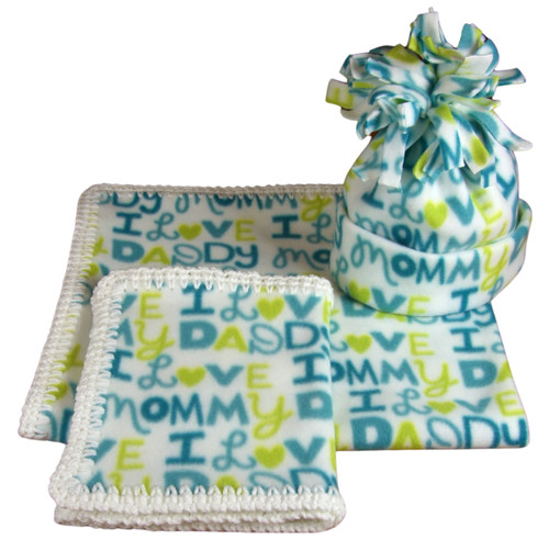 Three Piece Fleece Blanket Gift Set: This Gift Set Is Perfect For keeping that special new baby warm and comfy.