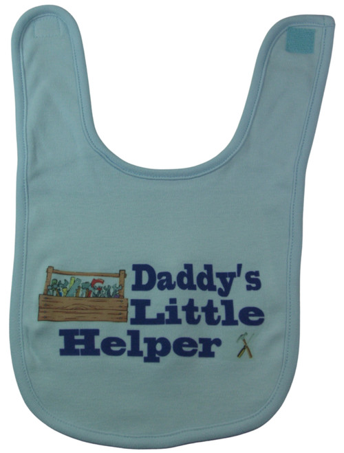This bib is a favorite of New Dads. We only use the highest quality materials with babies comfort in mind.