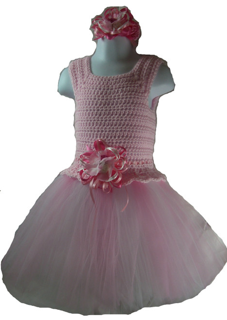 Tutu Party Dress : Available in Pink - Sizes 3 - 6 Months, 6 - 12 Months, 12 - 18 Months