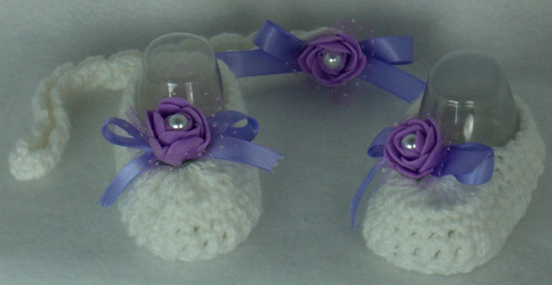 Crochet Baby Booties With Headband Size Newborn to 3 Months