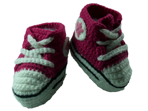 Crocheted Tennis Shoes / Booties Size: 2T