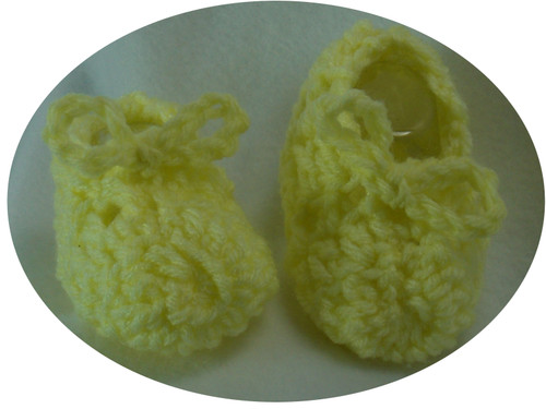 These beautiful handmade baby boooties crocchet with 100% washer safe baby yarn.