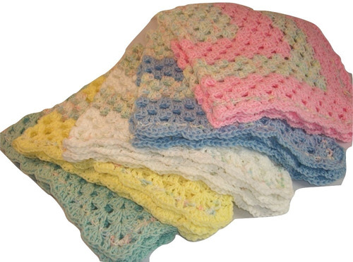 "The perfect size to keep that special little one warm and cozy. Handmade Baby Blanket Size 30"" x 30"""